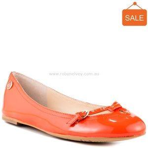 Shoes - Sam Edelman Leena coral patent ballet flat 8.5